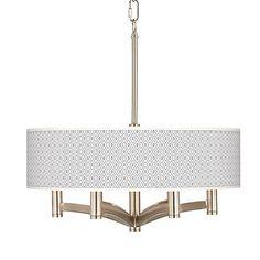Diamonds Ava 6-Light Nickel Pendant Chandelier - #X8648-4T497 | LampsPlus.com