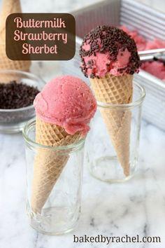 strawberry sherbet recipe bakedbyrachel com more sherbet strawberry ...