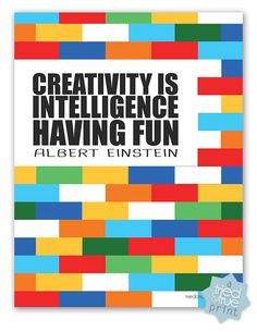 """Building Confidence with LEGO® JUNIOR - """"Creativity Is Intelligence Having Fun"""" Free Printable #LEGOJuniorMakers #CleverGirls"""