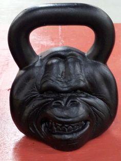 An orangutan kettlebell...