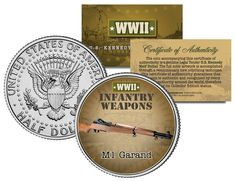 M1 GARAND * WWII Infantry Weapons * JFK Kennedy Half Dollar U.S. Coin  Price : $8.95  Ends on : 5 days Order Now