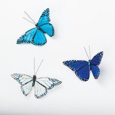 blue butterflies  http://designmeetscomfort.com/2012/06/18/how-pinteresting-layered-blue/