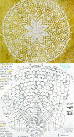 Crochet Doily Patterns, Crochet Diagram, Crochet Doilies, U Mandala Au Crochet, Crochet Doily Rug, Crochet Doily Diagram, Crochet Flower Patterns, Crochet Tablecloth, Crochet Flowers, Crochet Stitches, Crochet Baby, Knit Crochet