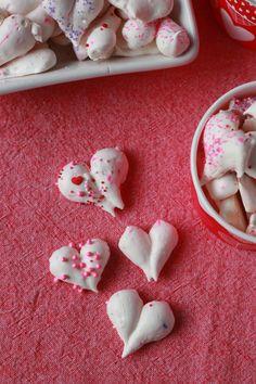 * heart meringues *