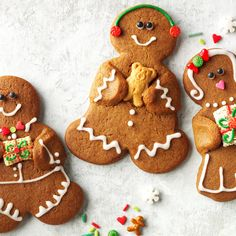 Gingerbread Buddies Recipe -These cookies were ideal for a winter get-together I hosted. I like to share these crunchy treats on the way home from cutting our fresh Christmas tree.—Shelly Rynearson, Oconomowoc, Wisconsin