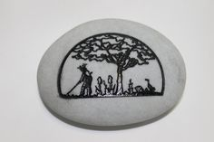3 Inch Tree of Life Engraved Etched wedding Stone by Studio569, $14.99