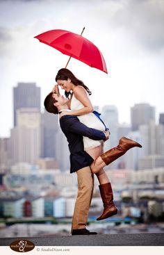 雨の日こそ撮りたい!雨の中のウェディングフォトがドラマチックで美しい♡にて紹介している画像