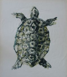 Syd Barrett turtle painting