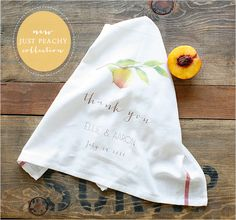 peach wedding favors and a special sale