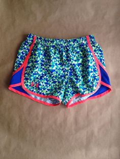Under Armour Loose Heatgear for Youth Girls' Shorts in Medium Coral/Blue/Green #UnderArmour