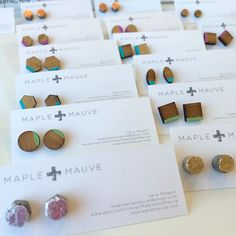 They're back! Modern luxe for your ears by @mapleandmauve - each one's a mini work of art to make you look even more fab!