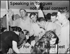 speaking in tongues not actual consent for DUI blood test in Georgia