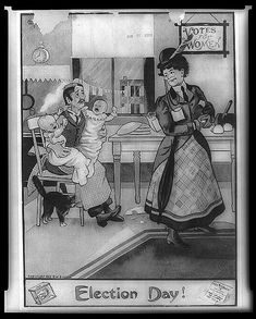 Women's suffrage cartoon, 1909. http://memory.loc.gov/ammem/vfwhtml/vfwhome.html