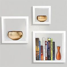 Buy Sorbus Floating Shelves— Square Shaped Hanging Wall Shelves for Decoration - Features Shadow Square Frame Design... by Shopsexactly on Dot & Bo