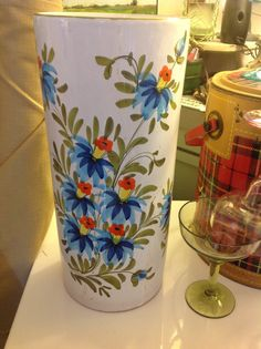 Hand Painted Italian Ceramic Umbrella Stand by SeaboardStudio123, $95.00
