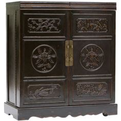 Wine Cabinet, Black - Four Hands  $1399