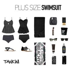 Plus Size Swimsuit Tankinis #curvyfashion #plussizefashion