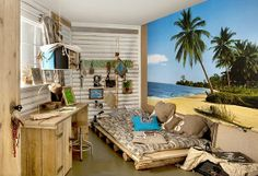 Island Bedroom Designs | ... style bedroom decorating ideas - beach bedrooms - surfer theme rooms