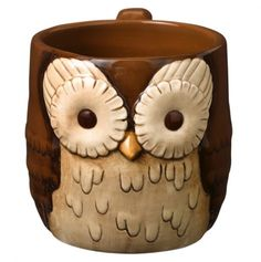 Owl Mug...OH PLEASE I WANT THIS SO BAD!!! Chai will taste so much better in it!
