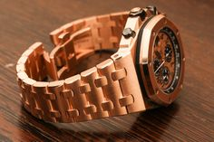 Audemars piguet chronograph and royal oak on pinterest for Royal oak offshore rose gold 42mm