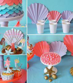 Ariel la petite sir¨ne idées  organiser votre anniversaire et