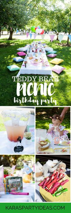 Teddy Bear Picnic Birthday Party via Kara's Party Ideas - KarasPartyIdeas.com