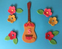 MElena of Avalor  Inspired Fondant cake topper guitar with name or age -    Edit Listing  - Etsy