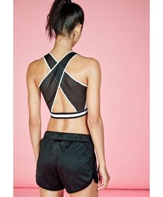 Ministry of Sound Cross Back Sports Crop Top - Missguided | Ireland
