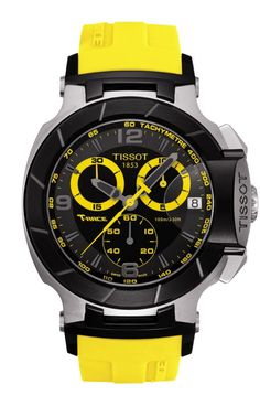 A popular choice of Tissot motor-sport ambassadors, the Tissot T-Race is also a winner off the circuit. This sporty timepiece boasts a dramatic design with bike-racing inspired elements. Constructed with a stainless steel and carbon composite case - mens all black watches, mens black face watches, mens chronograph watches
