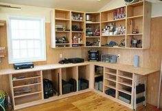Woodshop Storage - Shop Cabinets - great article. recommends Sketchup #woodworkingshop