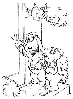 PoundPuppies 1980s coloring page coloring printables