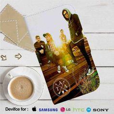 The Amity Affliction Leather Wallet iPhone 4/4S 5S/C 6/6S Plus 7  Samsung Galaxy S4 S5 S6 S7 NOTE 3 4 5  LG G2 G3 G4  MOTOROLA MOTO X X2 NEXUS 6  SONY Z3 Z4 MINI  HTC ONE X M7 M8 M9 CASE