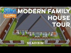 The Sims FreePlay - Modern Family House (Original Design) - YouTube