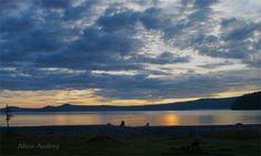 Sunrise over Khovsgol Lake, Mongolia. Photo by Alice Audrey.