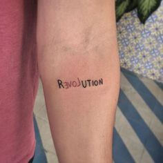 Phrase: Revolution Love - Tattoos for women - Tattoos Mini Tattoos, Head Tattoos, Love Tattoos, Small Tattoos, Tatoos, Grunge Tattoo, Fox Tattoo, Get A Tattoo, Tattoo Back Women