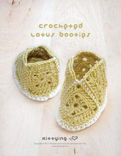 Crocheted Lotus Booties PATTERN