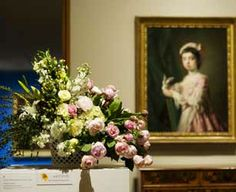 Art in Bloom, a yearly floral art show at the Milwaukee Art Museum.