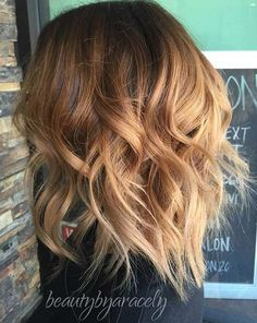 Caramel Long Bob Hairstyle with Layers