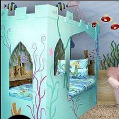 mermaid themed bedroom