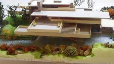 ARCHITETTURA IN MINIATURA  FALLING WATER LA VILLA SULLA CASCATA