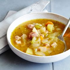 Sage and pumpkin are a perfect pair. Add chunks of apple and ham and you have the makings of a delicious autumn soup. We use canned pumpkin here in th...