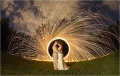 Cool night shot at the end of the wedding! Click to view more from this Maryville TN wedding!