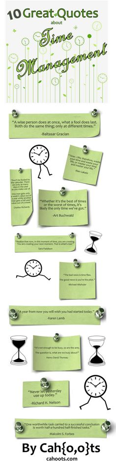 A quotographic about time. Great quotes about time management. #Time #Quote #Cahoots. http://Cahoots.com