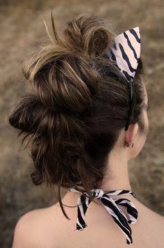 HALLOWEEN // zebra costume hair (mane) and makeup (stripes)