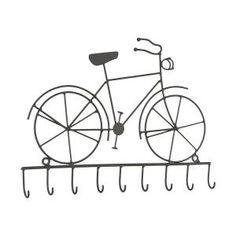Sleutelrekje fiets metaal met 9 haken - 8717459399181 - Avantius