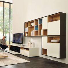 Contemporary TV cabinet / lacquered wood SCOPIA  hülsta