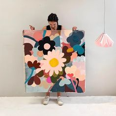 Today is the first day of my holiday so what better way to celebrate than to spend the morning trying to get photoshop to work and when it… Art Floral, Art Diy, Diy Canvas Art, Art Design, Pattern Art, Painting Inspiration, Painting & Drawing, Flower Art, Watercolor Art