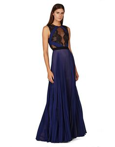 Women's Clothing | Dresses | Pleated Silk Gown | Lord and Taylor SO. PRETTY.