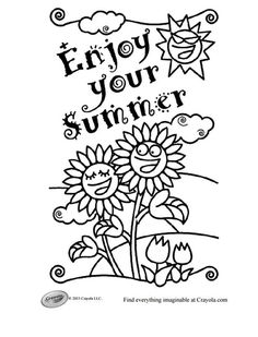 237 Free Summer Coloring Pages the Kids Will Love: Crayola's Free Summer Coloring Pages