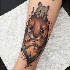 Otter Tattoo by Allday Jina otter animaltattoo neotraditional AlldayJina